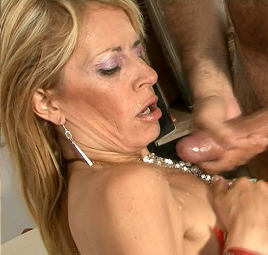 Horny mother fucks dildo and guy 2