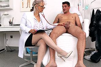 On stockings sperm