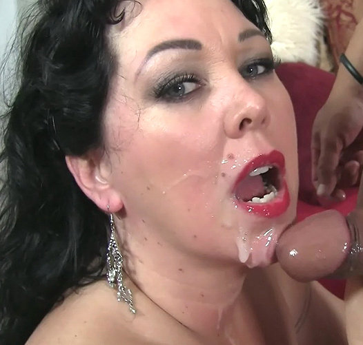 Eating cum mom mature