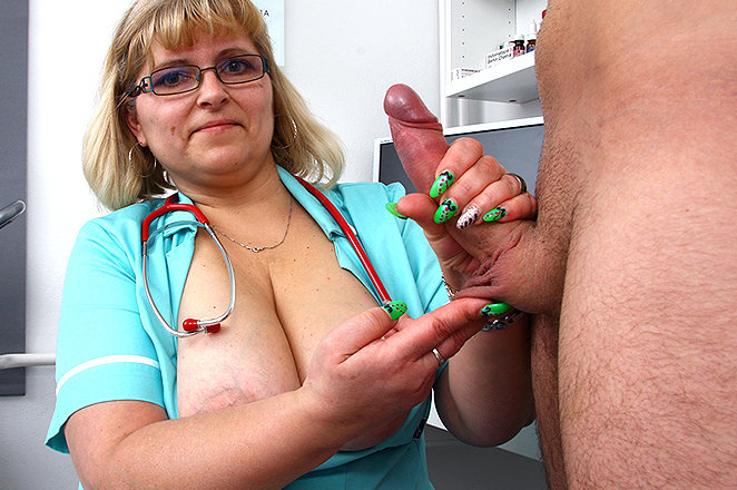 doctor mom handjobs - Sexy lady doctor Anna M