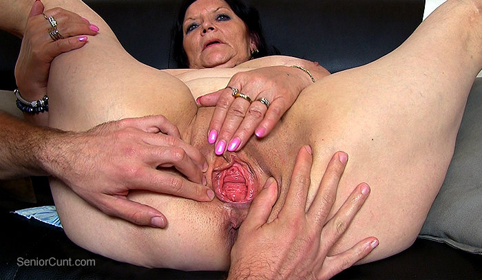 SeniorCunt.com - A boy is fingering an old gilf pussy feat. Berta