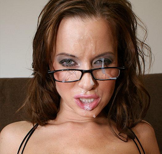 Bukkake squirt facial