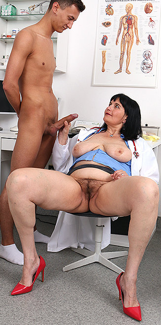 Horny Doctor Gives Handjob