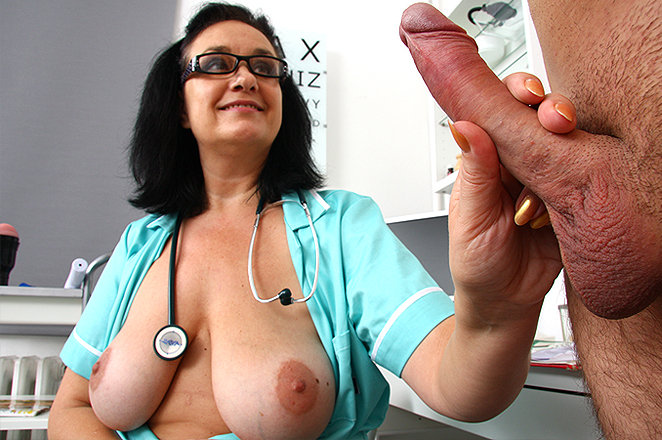 doctor mom handjobs - Sexy lady doctor Danielle K