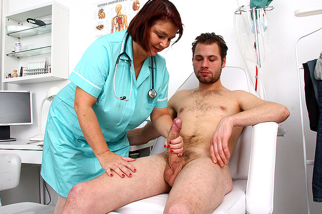 doctor mom handjobs - Sexy lady doctor Eva R
