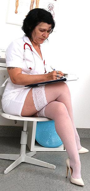 Sexy nurse Flavia