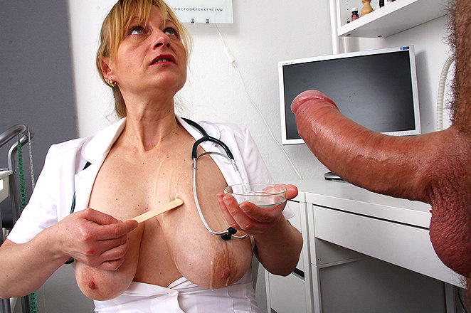 Big tit doctor handjob