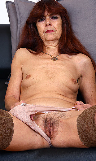 Stockings hairy skinny gilf share
