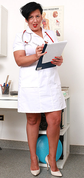 Sexy nurse Melanie