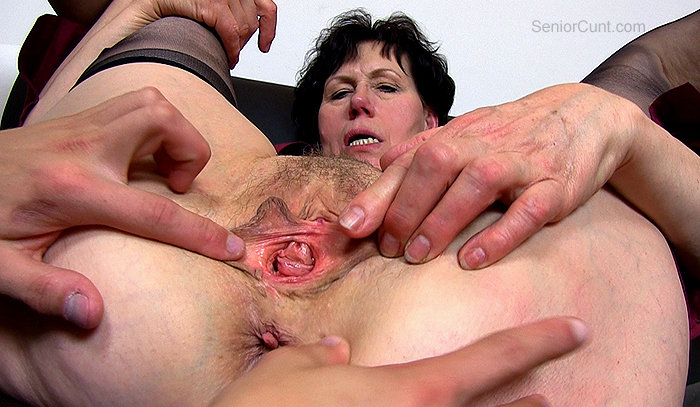 Granny clit old mature