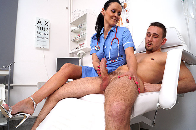 doctor mom handjobs - Sexy lady doctor Nora F