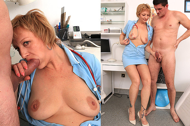 Sexy lady doctor Reba D