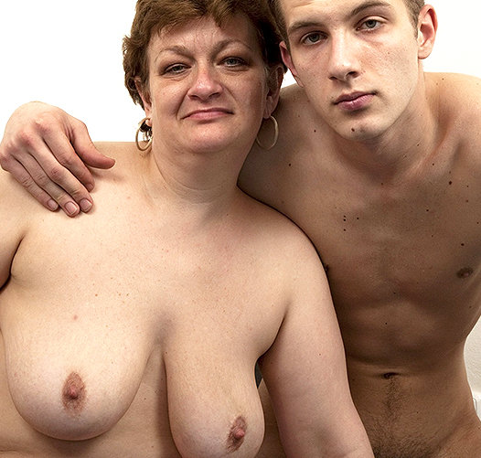 Big tits mature and boy