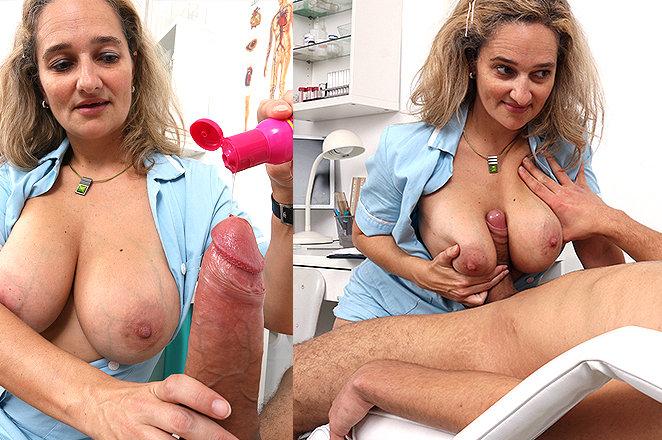 Sexy lady doctor Ameli Monk