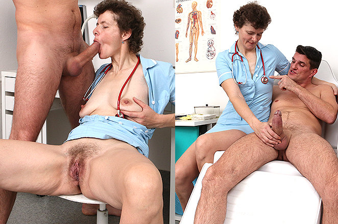 Sexy lady doctor Erma P