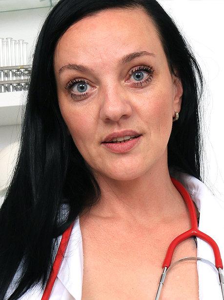 Hot female doctor Mona D